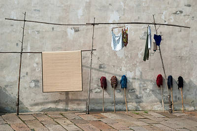 Photograph - Mops And Laundry 2  Wuzhen China by Rob Huntley