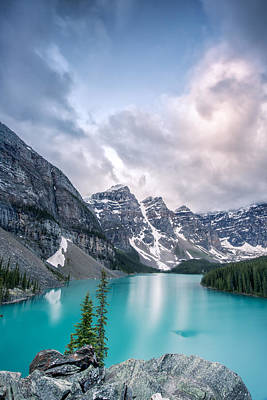 Landscape Photograph - Moraine Cloud Burst by Jon Glaser