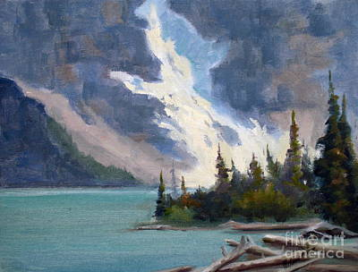Beautiful Scenery Painting - Moraine Glacier Banff by Mohamed Hirji