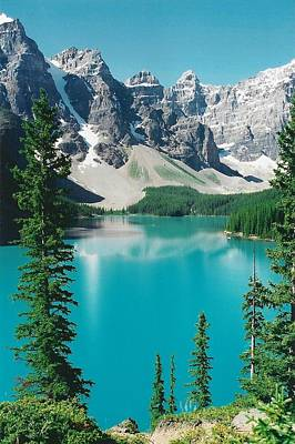Moraine Lake 4 Art Print by Shirley Sirois
