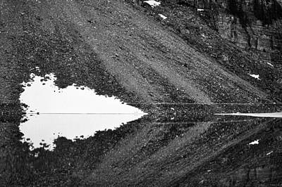 Photograph - Moraine Lake Abstract - Black And White by Stuart Litoff