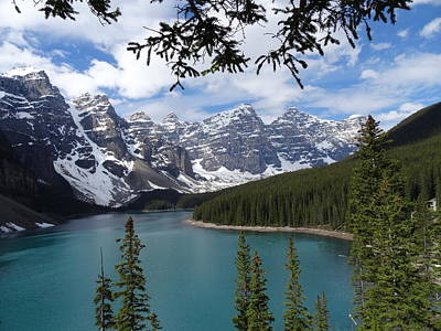 Photograph - Moraine Lake Alberta Canada by Bj Hodges