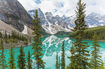 Moraine Lake Photograph - Moraine Lake And The Valley Of The Ten by Peter Adams