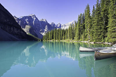 Moraine Lake And Valley Of The Ten Art Print by Ken Gillespie