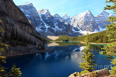 Photograph - Moraine Lake Banff Alberta by Nick Jene