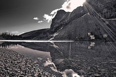 Photograph - Moraine Lake - Black And White #2 by Stuart Litoff