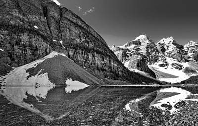 Photograph - Moraine Lake - Black And White #3 by Stuart Litoff