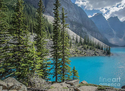 Calgary Photograph - Moraine Lake Banff National Park Canada by Edward Fielding