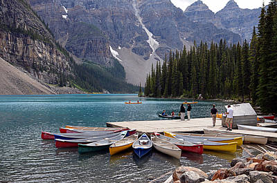 Canoe Digital Art - Moraine Lake Il by Maria Angelica Maira