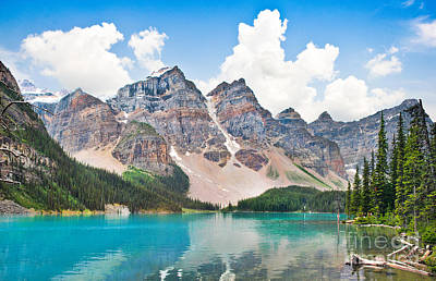 Photograph - Moraine Lake by JR Photography