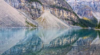 Photograph - Moraine Lake Panorama B by Jim Dollar