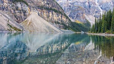 Photograph - Moraine Lake Panorama C by Jim Dollar