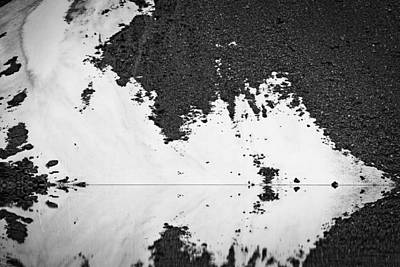 Photograph - Moraine Lake Rorschach Test - Black And White by Stuart Litoff