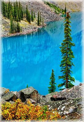 Photograph - Moraine Lake Scene by Carolyn Derstine