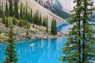 Photograph - Moraine Lake View by Carolyn Derstine
