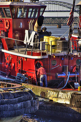 Tugboats Photograph - Moran Towing Tugboat - Portsmouth Nh by Joann Vitali