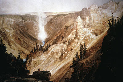 Grand Canyon Of Arizona Painting - Moran Yellowstone, 1872 by Granger