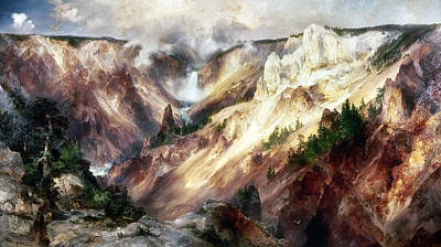 Grand Canyon Of Arizona Painting - Moran Yellowstone, 1893 by Granger