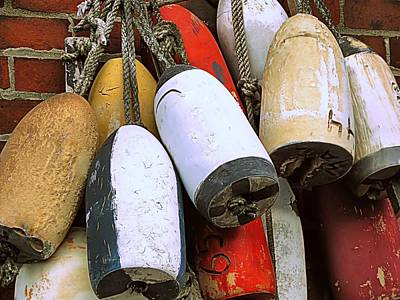 Photograph - More Buoys by Janice Drew