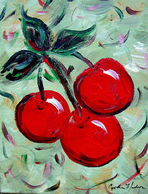 More Cherries Art Print by Cynthia Hudson