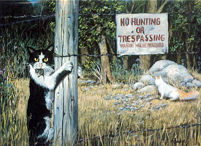 Barbed Wire Fences Painting - More Civil Disobedience by Donna Tucker