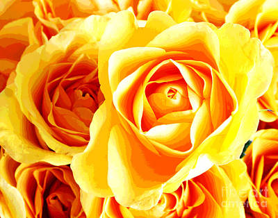 Photograph - More Golden Roses by Larry Oskin