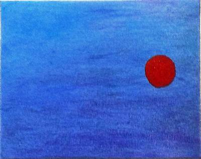 Blue Painting - More Like A Dot by Jennifer Fliegel