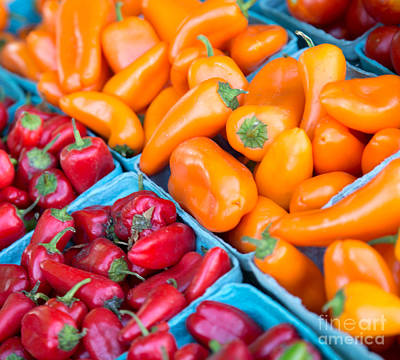 Photograph - More Red And Orange Peppers by Rebecca Cozart