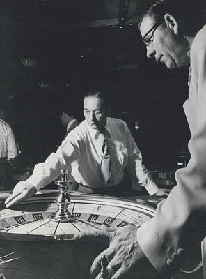 More Roulette Whereas Spin In Las Vegas Than In Monte Carlo Art Print by Retro Images Archive