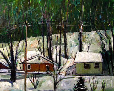 Snow Piles Painting - More Snow Tonight by Charlie Spear