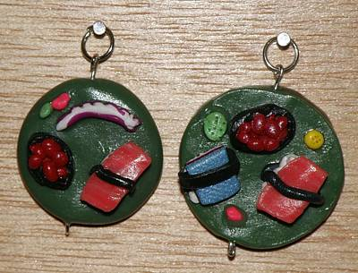 Silver Findings Sculpture - More Sushi Pendants by M Brandl