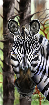 Zebra Painting - More Than A Steed 1 by Reggie Duffie