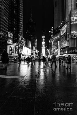 More Times Square Mono Art Print by John Farnan