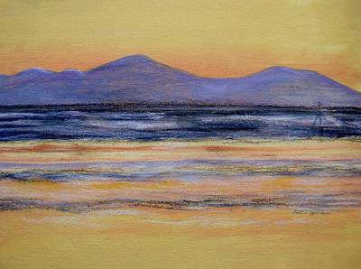 Painting - Morecambe Bay Sunset  by Joan-Violet Stretch