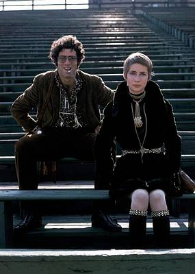 Moreen Mcgill And Elliot Gould Art Print by William Connors