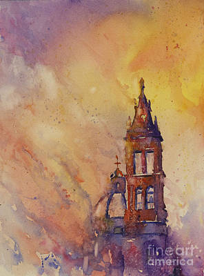 Central America Painting - Morelia Cathedral by Ryan Fox