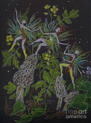 Fey Drawing - Morels by Dawn Fairies