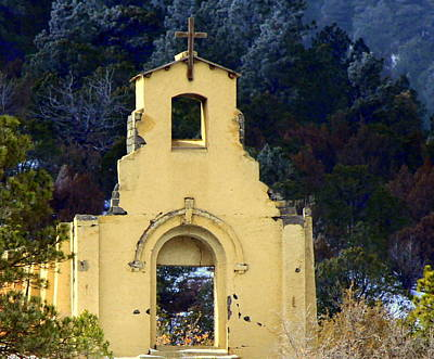 Art Print featuring the photograph Mountain Mission Church by Barbara Chichester