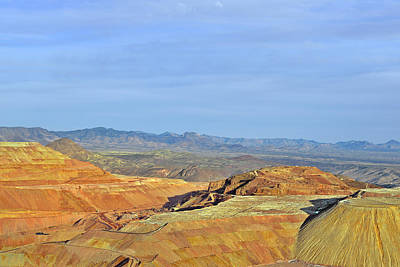 Layers Photograph - Morenci - A Beauty Of A Copper Mine by Christine Till