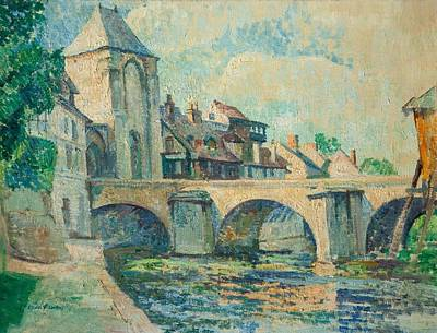 Moret Painting - Moret-sur-loing by Edgar Rowley Smart