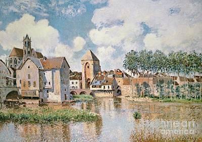 Moret Painting - Moret Sur Loing The Porte De Bourgogne by Alfred Sisley