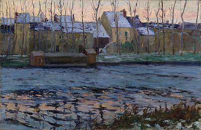 Maurice Painting - Moret. Winter by Maurice Cullen