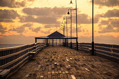 Poer Photograph - Moreton Bay Shorncliffe Pier by Steven Howard