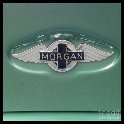 Photograph - Morgan Car Emblem by Susan Garren