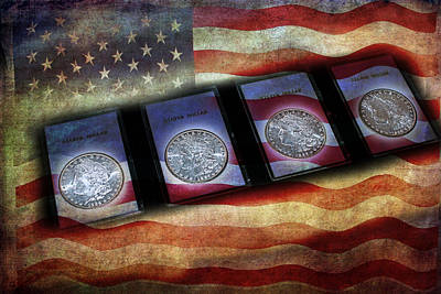 Photograph - Morgan Silver Dollar by Gunter Nezhoda
