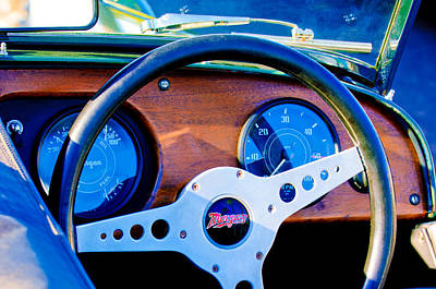 Morgan Photograph - Morgan Steering Wheel by Jill Reger