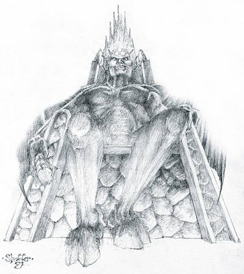 Drawing - Morgoth Bauglir by Curtiss Shaffer