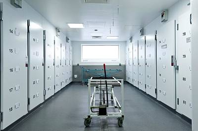 Morgue Storage Area Art Print by Dan Dunkley