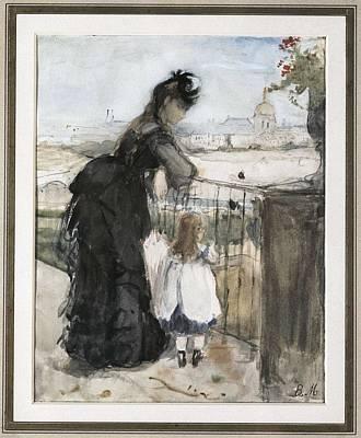 Berthe Photograph - Morisot, Berthe 1841-1895. In by Everett