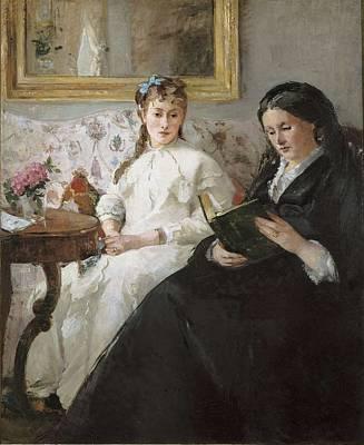 Berthe Photograph - Morisot, Berthe 1841-1895. The Mother by Everett
